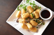 Crispy Tofu served with ginger soy sauce