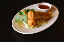 Spring Rolls – Chicken, vegetable wrapped in thin spring roll shell and deep fried