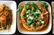 Pad Thai and Pan Fried Noodles