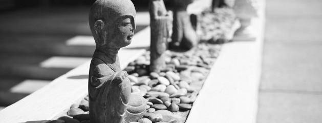 Buddha statues maintain serenity